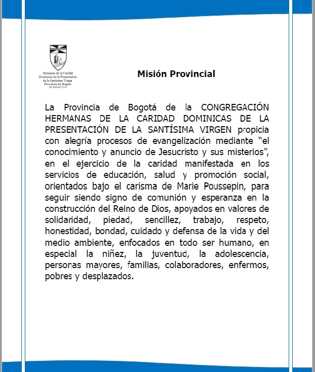 1. MISION PROVINCIAL